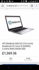 Hp elitebook 850 G3 bang & olfsen