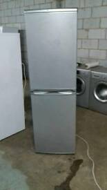 SILVER HOTPOINT 6ft tall fridge freezer 109.99
