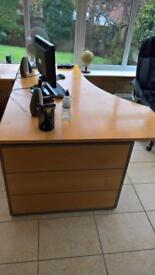 Viking Pine Sweeping Office Desk heavy Duty in excellent condition.