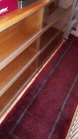 Retro simplex light mahogany sectional bookcase for sale £75
