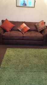 For sale a sofa and two single chairs, immaculate condition from a smoke free home, £400