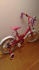 "Girls Pink Sparkle Bike 14"""