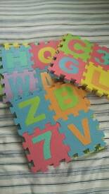 Childrens large foam letters and numbers