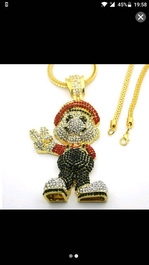 Super Mario Iced Out Chain - 50% off