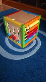 Wooden activity square