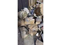 Rockery rocks and rubble