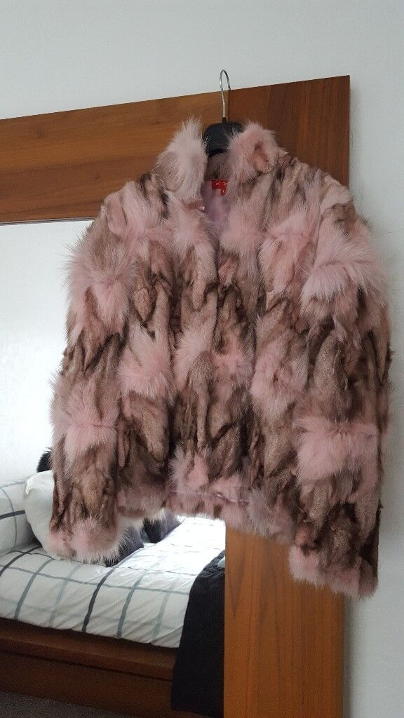 Stunningly beautiful and unusual Fur jacket . As new.