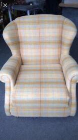 Beautiful reupholstered arm chair