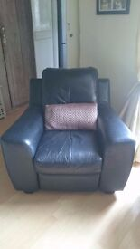 Black Recliner Leather Chair