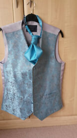Mens Lloyd Attree & Smith Waistcoat and Cravat Tie