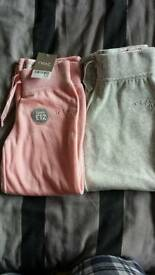 2 x Brand New Girls Next Tracksuit Bottoms Size 4 - 5 Years