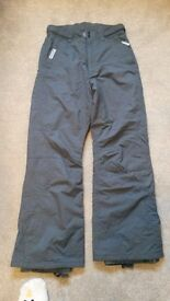 Mens 'Dare to Be' grey salopettes/ski trousers -size Medium