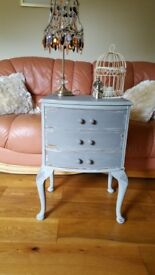 Shabby chic small chest of drawers