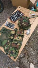 Army kids dress up