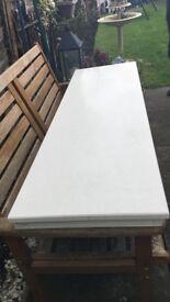 White marble fireside hearth