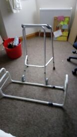 Double ended bed gaurd and walking frame