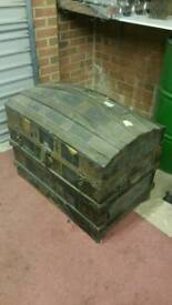 Old travel chest