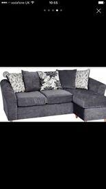 Final price reduction on sofa - as new. Grey 'velvet'