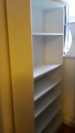 Bookcase, Tall Wide Extra Deep, white
