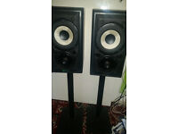 Mission 700 Bookshelf speakers & Gale spiked stands
