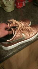 Woman's gold trainers