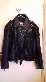 Bikers leather jacket.