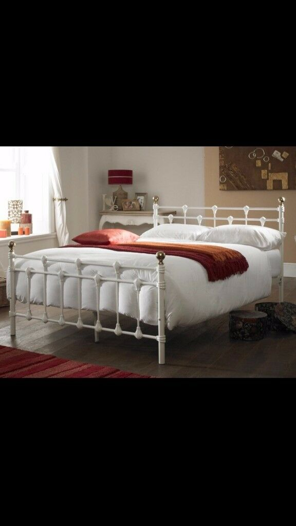 NEW DOUBLE METAL FRAME BED