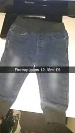 Firetrap jeans 12-18m