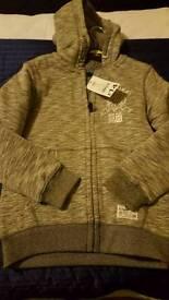 Brand New jacket/hoodie 7-8 fleece