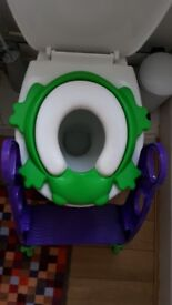 Toddler toilet training potty seat - green frog