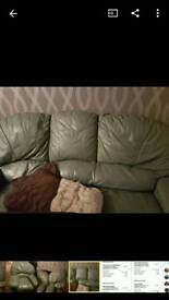 Genuine leather sofa in very good condition RRP £1800