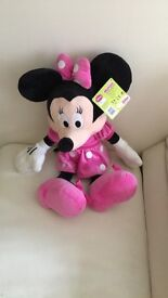 Large Minnie Mouse Teddy With Tags