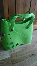Croc shoe style tote bag