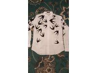Alexander Mcqueen mens shirt swallow flock design.