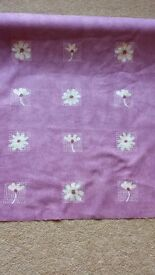 7.2m Roll of pink mauve flower curtain fabric material from John Lewis