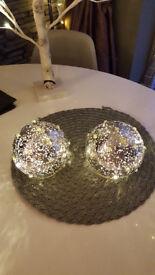 pre lit silver glitter decoration