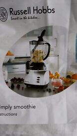 Russell Hobbs Simply Smoothie Maker Blender and Ice Crusher Model 12620