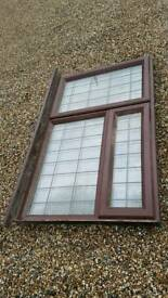 151cm x 96cm rosewood pvc window and cill