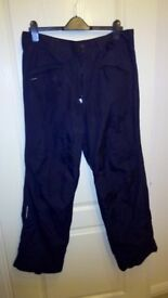 Snowboard Trousers, medium fits size 34, lightweight, waterproof, breathable.