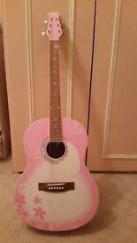 Martin Smith W 39 Full Size Acoustic Guitar - Pink good condition