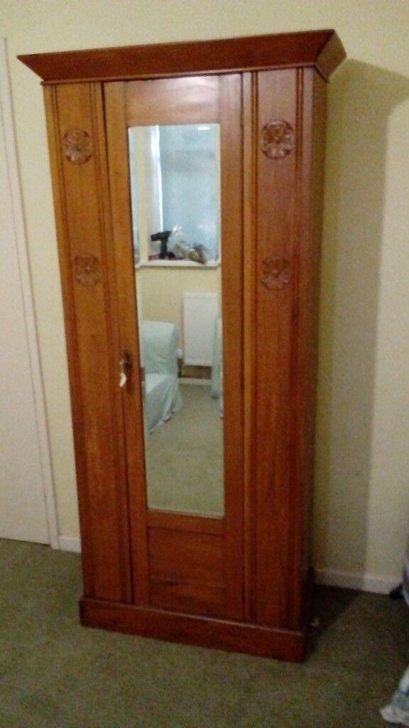competitive price 49e6d 47e89 Antique Wardrobe with Mirror Door. | in Pontypool, Torfaen | Gumtree