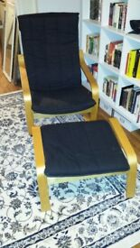 Ikea Poang Armchair and Footstool-Make me an offer