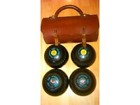 Drakes Pride Bowls size 5M x 4 with leather case