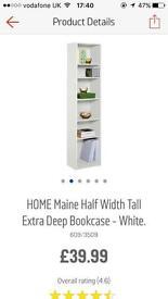 Argos white bookcase