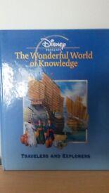 Disney wonderful world of Knowledge set of 20 books, disney character fun facts great present