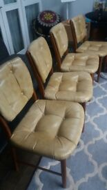 Set of Mcintosh of Kirkcaldy Mid Century Modern Chairs 1970's