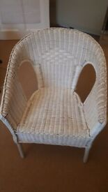 White wicker chair excellent condition