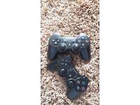 Ps3 128gb black 2 black controllers
