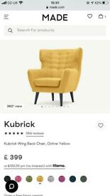 Modern yellow/mustard armchair made . Com