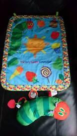 Hungry caterpillar tummy time mat